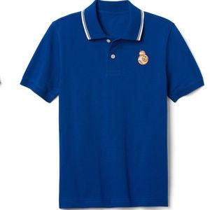 Gap Kids Star Wars Boys Polo Shirt Size XL Blue